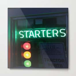 Red - Yellow - Green - Black - Starters Metal Print