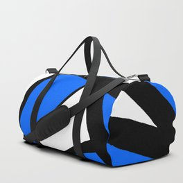 China Blue Geometric Triangle Abstract Inverse Duffle Bag