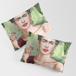 Frida con Amigos Pillow Sham