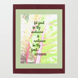 Let food be thy medicine Poster