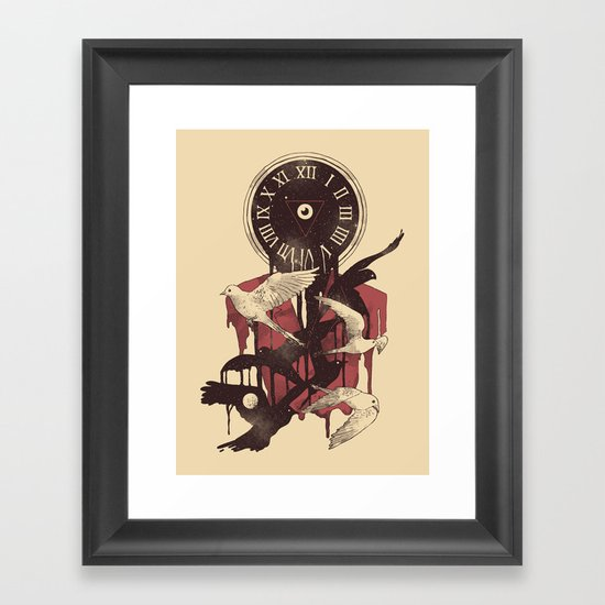 Existence in Time and Space Framed Art Print