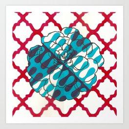 Camellia of high fashion Art Print