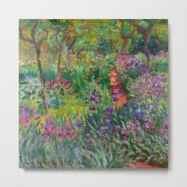 "Claude Monet ""The iris garden at Giverny"", 1900 Metal Print"