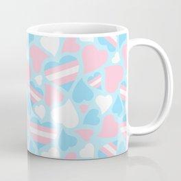 TransPride Hearts Pattern Coffee Mug