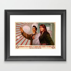 Doctor Who Propaganda Poster Framed Art Print