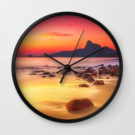 Sunrise over the Beach Wall Clock