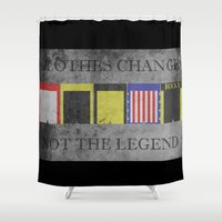 rocky horror Shower Curtains featuring ROCKY by Christophe Chiozzi