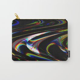 Rainbow on dark glitch effect Carry-All Pouch