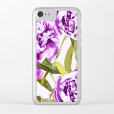 Peonies on a white background - #Society6 #buyart Clear iPhone Case