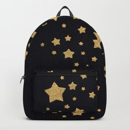 Gold Stars on BLack Backpack