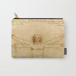 Le proporzioni del corpo umano secondo Vitruvio, Leonardo da Vinci, 1490 Carry-All Pouch