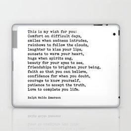 My Wish For You, Ralph Waldo Emerson, Quote Laptop & iPad Skin