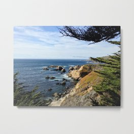 Big Sur Cypress Metal Print