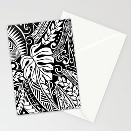 Vintage White Samoan Tribal Design Stationery Cards