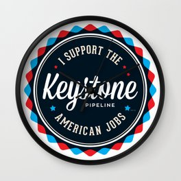 Keystone Pipeline Wall Clock