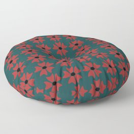 Red Flower Floor Pillow