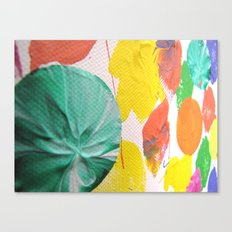Acryl colored dots Canvas Print