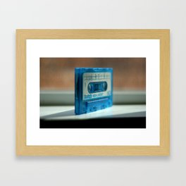 Blue Tape Framed Art Print