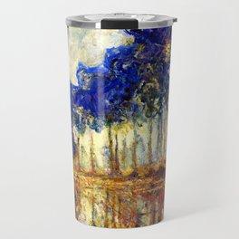 Monet : Poplars on the Banks of the River Epte, 1891 Travel Mug