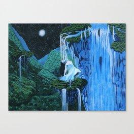 Secret midnight falls Canvas Print