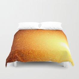 Golden Sun Stars Duvet Cover