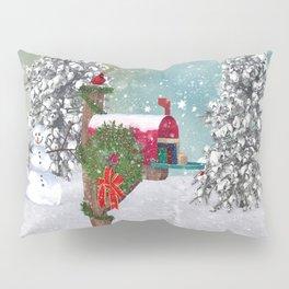 Seasons Mailbox Winter Pillow Sham