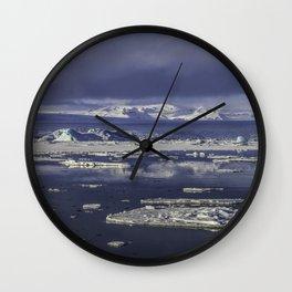 Glacial Lagoon 03 Wall Clock
