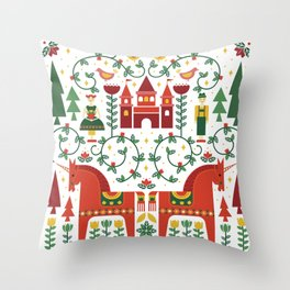 Scandinavian Inspired Fairytale Throw Pillow