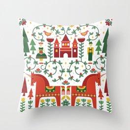 Scandinavian Inspired Fairytale Throw Pillow