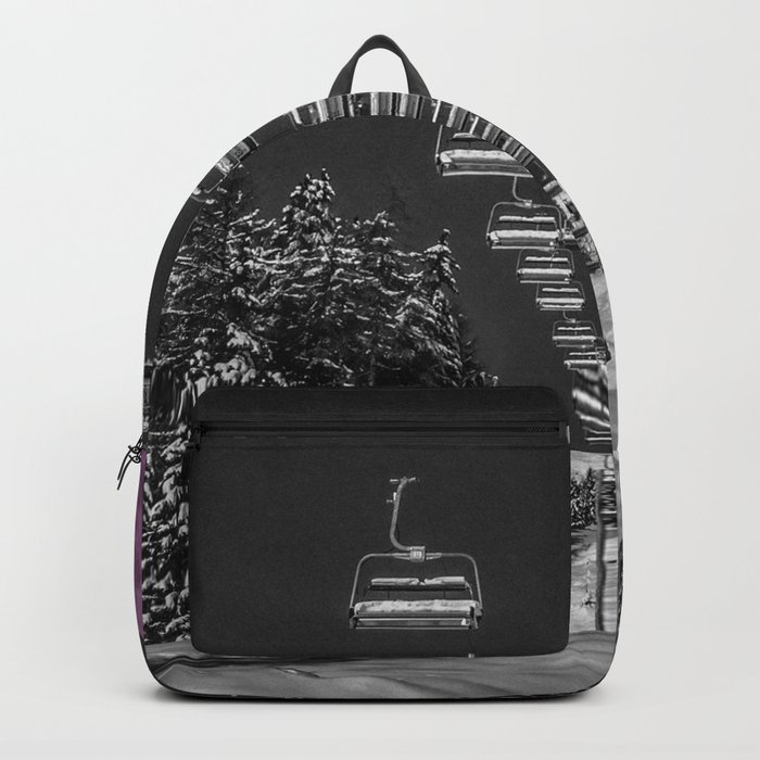 Chairlift to the Fuchsia Moon Backpack