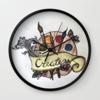 creativity Wall Clocks featuring Creativity by breeelise