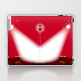 Open Mic Night Red Background Laptop & iPad Skin