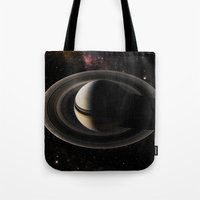saturn Tote Bags featuring SATURN by Alexander Pohl