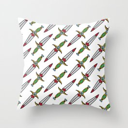 taditional Dagger pattern Throw Pillow