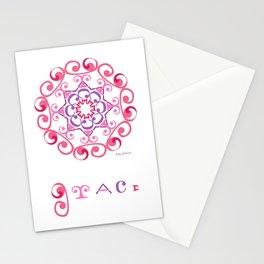 "Grace Mandala with ""Grace"" - Pink Stationery Cards"