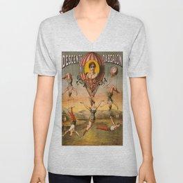 Vintage poster - Descente D'absalon Unisex V-Neck