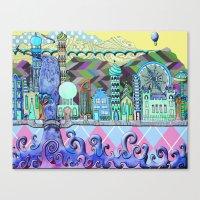 cities Canvas Prints featuring Cities by erin schuetz