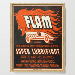 Werbeposter flam super lubrifiant diable Serving Tray