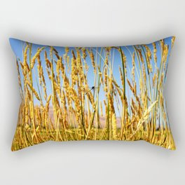 Dragonfly in tall dry grass Rectangular Pillow