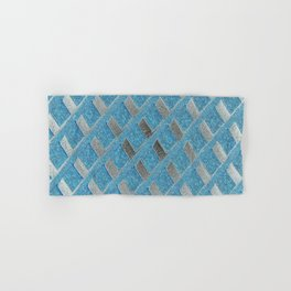 Blue Grill Abstract Hand & Bath Towel