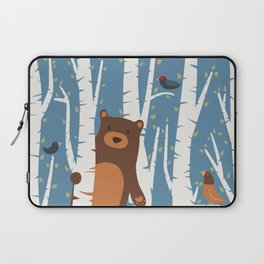 Bear and Birches Laptop Sleeve