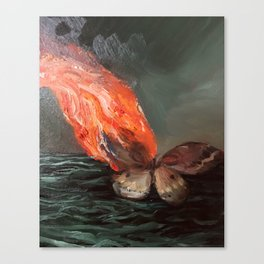 Burning Moth (detail from Swan Song) Canvas Print