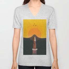 From the depths of the land Unisex V-Neck