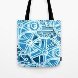 Geared Up ( Big Blue) Tote Bag