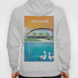 Adelaide, Australia - Skyline Illustration by Loose Petals Hoody