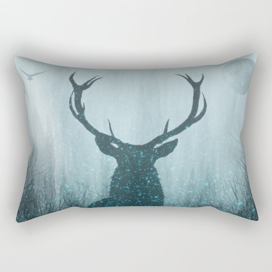 Snow Stag Silhouette by themindblossom