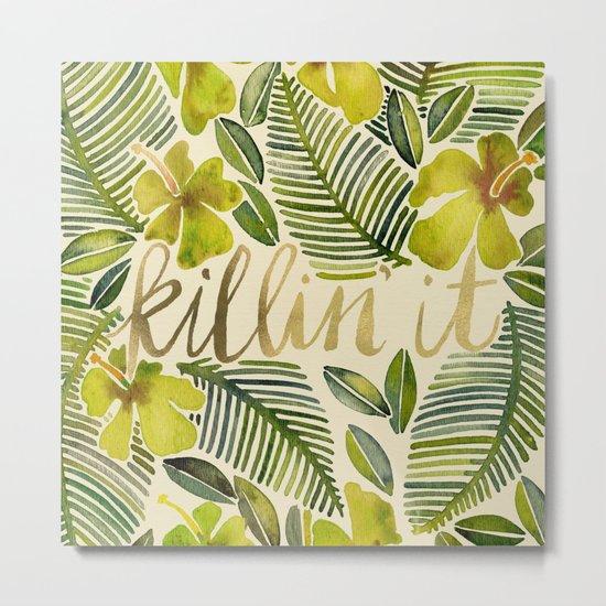 Killin' It – Tropical Yellow Metal Print