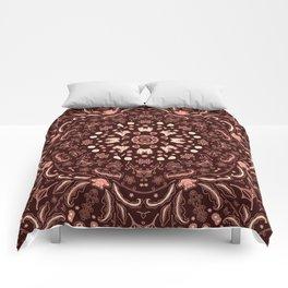 Floral mandala Comforters