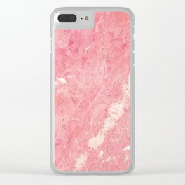 Vintage blush pink white rustic marble Clear iPhone Case