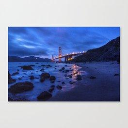 Golden Gate Bridge During Blue Hour Canvas Print